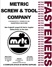 Metric Hardware Catalog