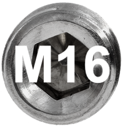 M16 DIN 915, ISO 4028 Metric Flat Point Socket Set Screw