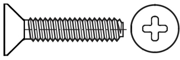 Spiralform, Cross Recess Countersunk