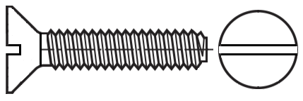 Spiralform, Slotted Flat Coutersunk