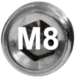 M8 DIN 915, ISO 4028 Metric Flat Point Socket Set Screw