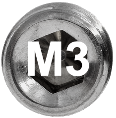 M3 DIN 915, ISO 4028 Metric Flat Point Socket Set Screw
