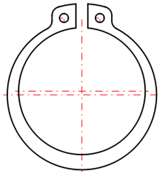 External Retaining Ring with Lugs