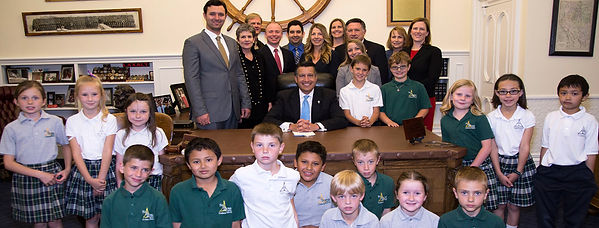 Assemblyman Stephen Silberkraus with Governor Sandoval for the signing of AB321 a school safety bill