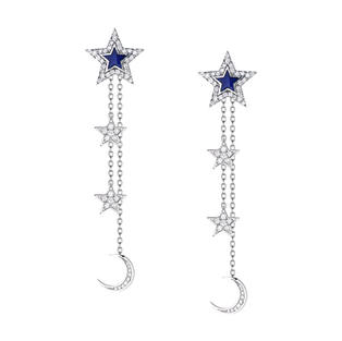 Blue Stars Earrings