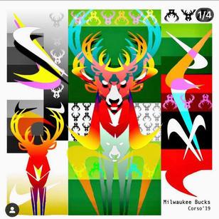 _Fear the Deer_ Digital Print on Metal or Paintings All Sizes