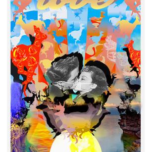 """""""Deep Waters & Blue Skies"""" 24"""" x 36"""" ArtDose Mag"""