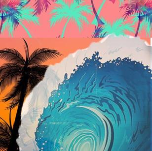 _Summer Interact Dreams_ 8' x 5' Digital image made into painting