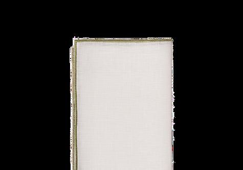 Quadro Napkins - White/Penicillin