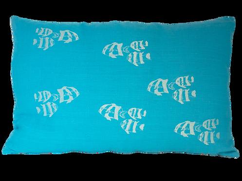 Sardine Cushion -Turquoise