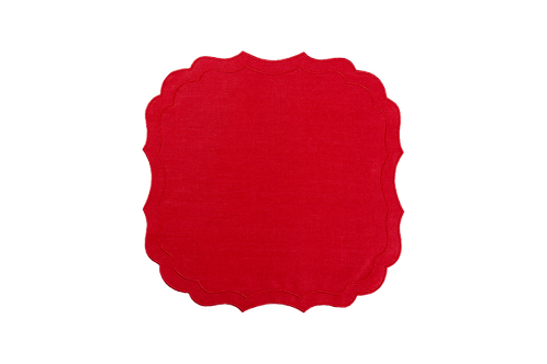 Krinkle Placemat Red/Red edge