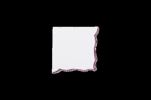 Berry Napkin White-Scarlet edge 48cm