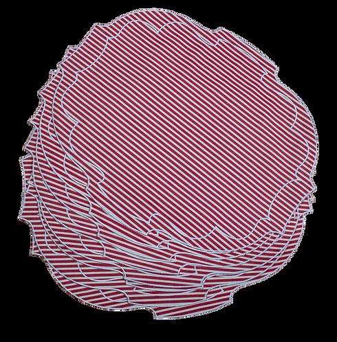 Parentesi Oval - Brique Stripes