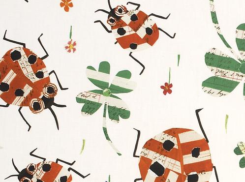 Ladybug Cotton Fabric by mt