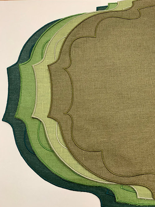Parentesi Oval_set of 4 - Dark green-Green-Pennicillin-Olive