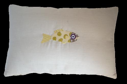 Sea bass Cushion -Ivory