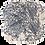 Thumbnail: Set of 2 Krinkle Coral placemat_Mix 1 Blue + 1 Orange