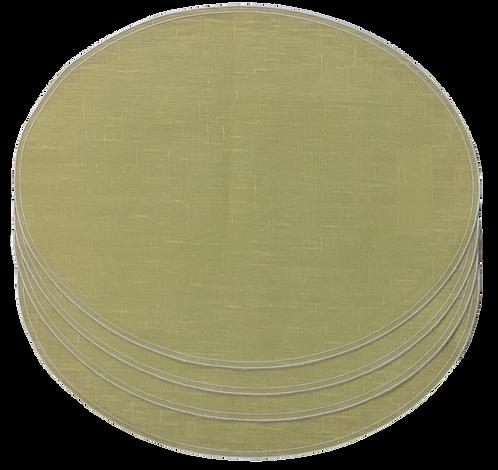 Placemat Oval D.Q. - Set of 4 Zinc