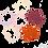 Thumbnail: Coaster Leaf - set of 4