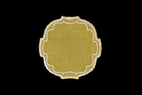 Parentesi Oval Coaster - Mustard