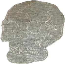 Skull Placemat_Melange/Silver