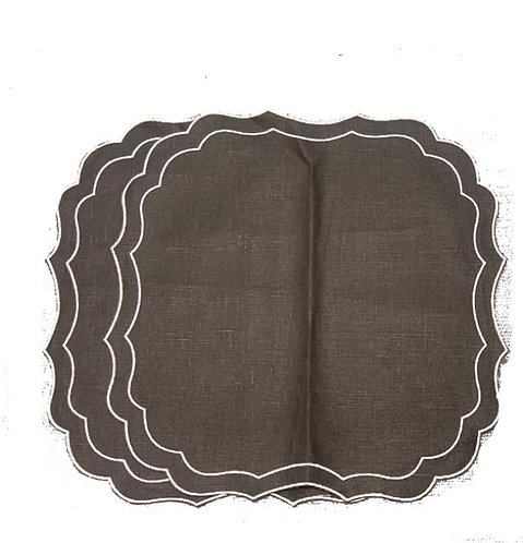 Set of 2 Krinkle Placemats_coffee