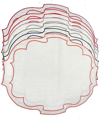 Set of 7 Parentesi Oval_White/color mix