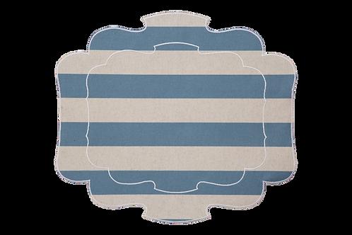 Parentesi 800 - Natural/Blue stripes