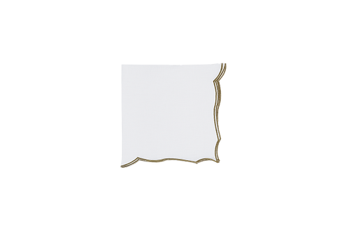 Berry Napkin White-Olive edge 43cm