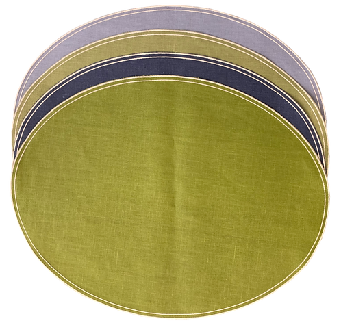 Placemat Oval D.Q. - Set of 4 Periwinkle /Penicillin / Blu / Green celery
