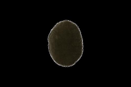Oval Cushion Velvet Dark green