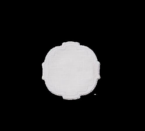 Parentesi Oval Coaster - White
