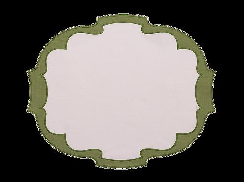 Parentesi Oval Double - White/Green