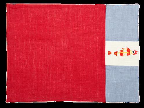 Tasca - Sardine_Red/Periwinkle