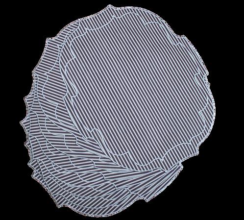 Parentesi Oval - Aubergine Stripes