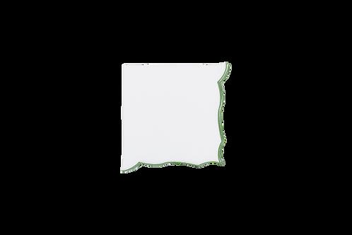 Berry Napkin White-Green edge 38cm