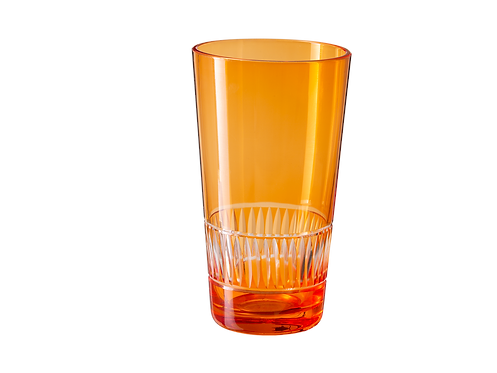 Drinking Glass Raimbow - Set of 4_Orange