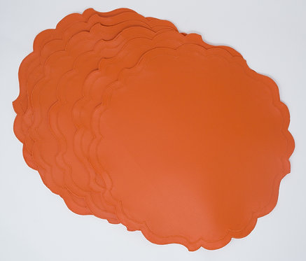 Set of 6 Placemats Eco-leather - Orange