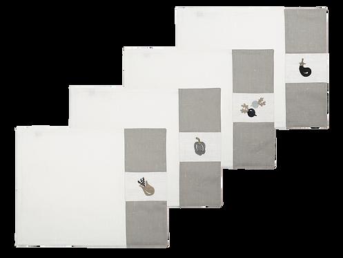 Tasca - Set of 4_Vegetables, White/Pearl