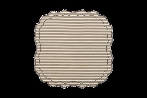Krinkle Multistripes Placemat_Beige/Pearl edge