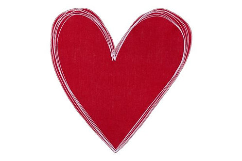 Heart Placemat Red