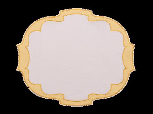 Parentesi Oval Double - White/Yellow