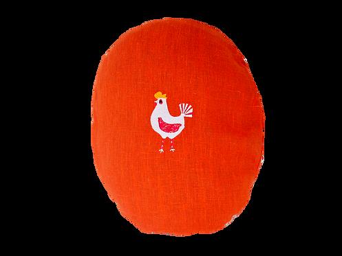 Hen Cushion - Tomato