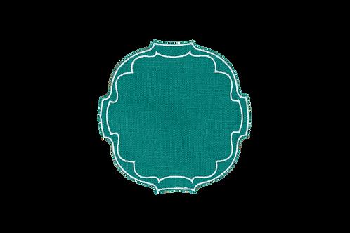 Parentesi Oval Coaster - Aquamarine