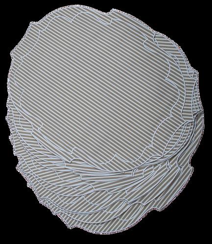 Parentesi Oval - Beige Stripes