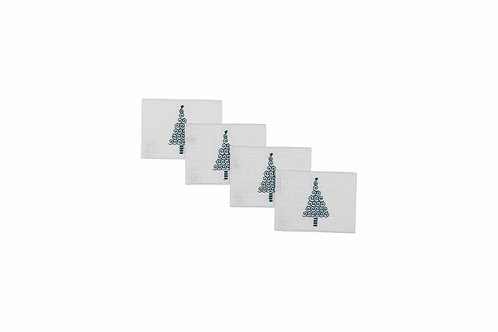 Coaster Christmas tree White/green
