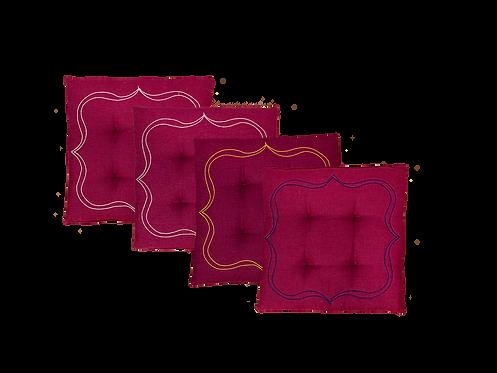 Seat Cushion Square - Set of 4_Anemone