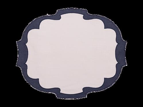 Parentesi Oval Double - White/Blue