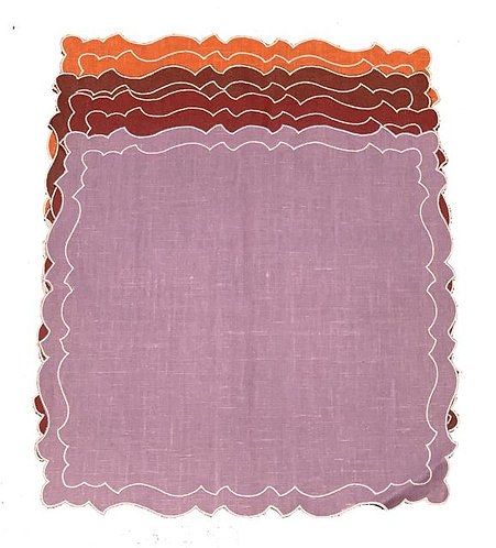 Set of 4 Cake placemats_color mix