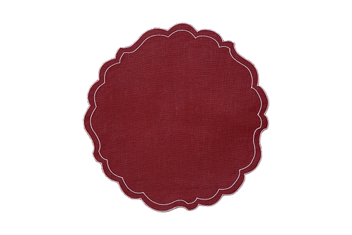 Set of 2 Placemats Paper Smooth - Scarlet